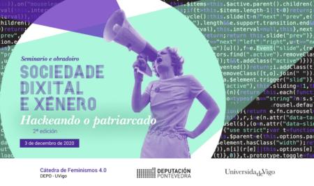 """El 3 de diciembre se celebrará la 2ª edición del Workshop """"Sociedad digital y género. Hackeando el patriarcado"""""""