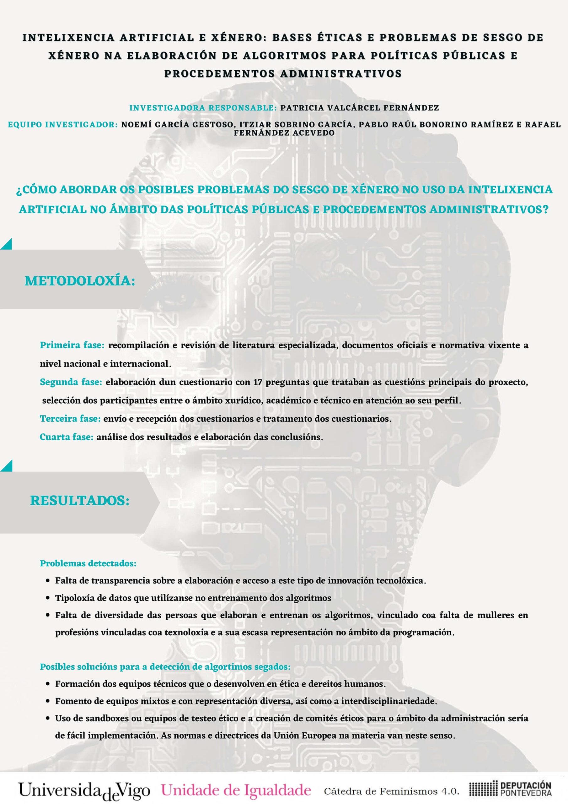 Cartel Intelixencia artificial e xenero-Patricia Valcarcel Catedra 2020