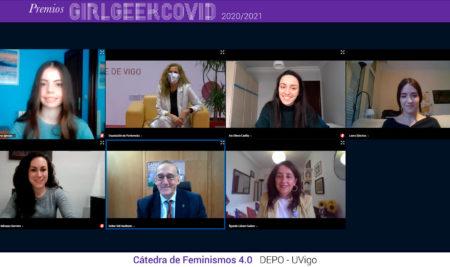A Deputación de Pontevedra e a Universidade de Vigo premian a traxectoria de catro estudantes co obxectivo de incentivar as vocacións STEAM entre as mozas