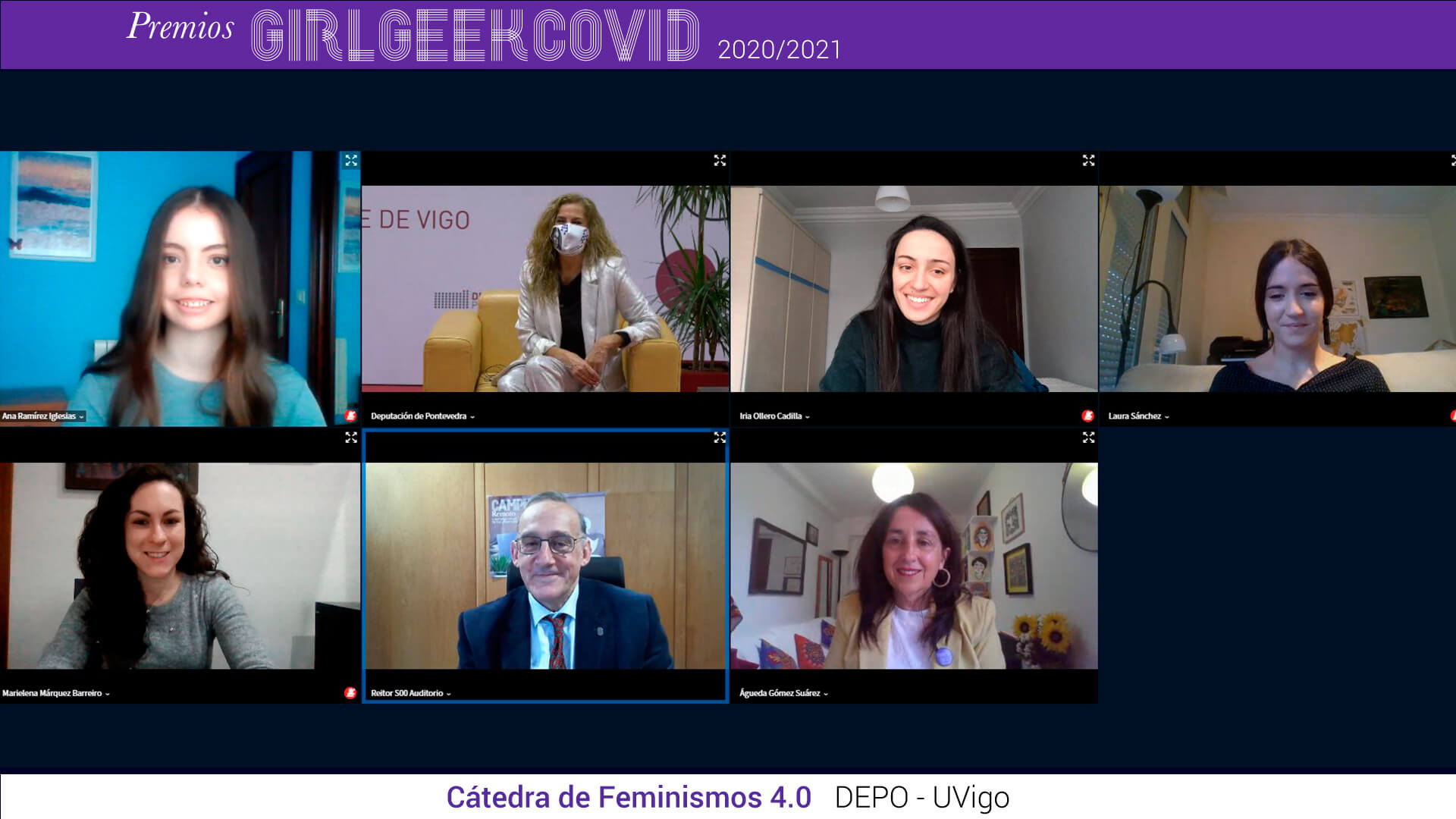Premios Girl Geek Covid foto participantes